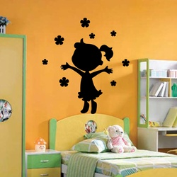 KC095 Little Girl Wall Decal ( KC095 )