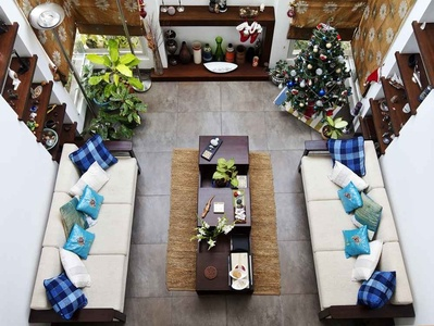 Living Room Christmas decorations Design Idea by Deep and hana architects