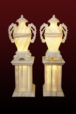 Marble Vase urn with matching handles