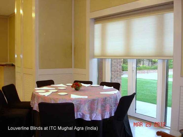 Honey Comb Blinds used in the Dining Room