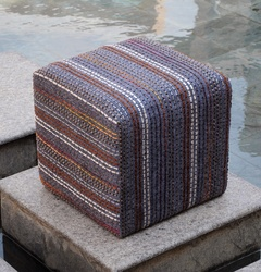 Chatel Cube Hand Woven Poufs