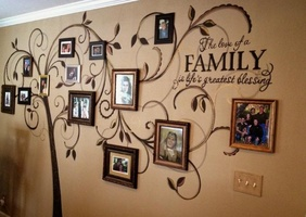 Family Portrait Wall Design Ideas