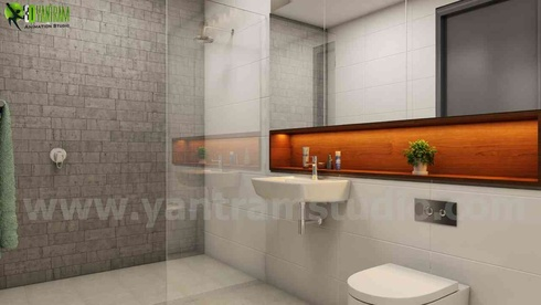 Residential 3D Interior Bathroom House Renderings Design Canberra