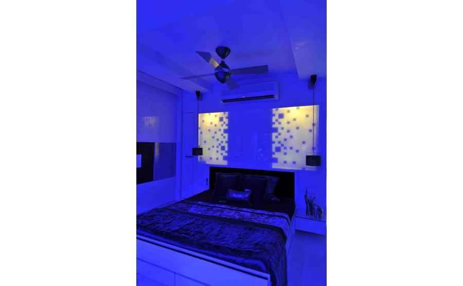 Parent's Bedroom in Blue Light