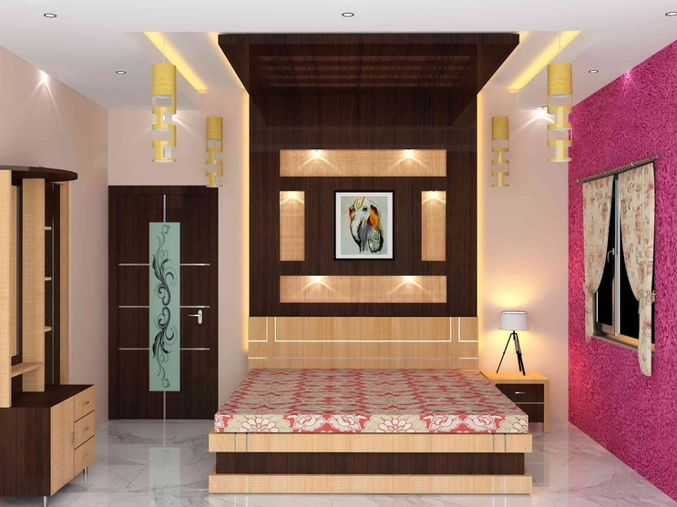 Bedroom interior by sunny singh interior designer in 2 bedroom interior design