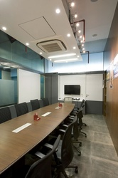 conference room in rectangular shape.