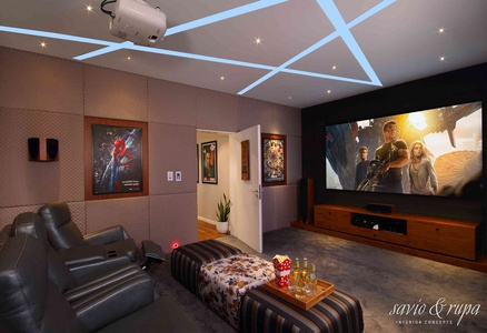 Home Theater. Savio Michael Interior Designer