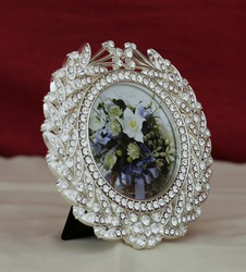 Photo Frame Swarovski Round