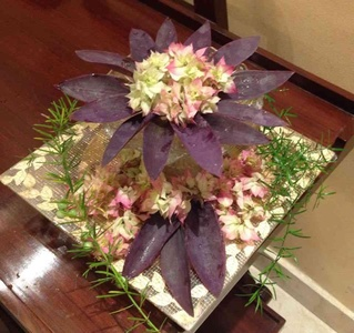 Leaves can sometimes dominate a flower arrangement
