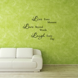 Live, Love Laugh Wall Decal ( KC385 )