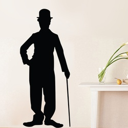 Charlie Chaplin Silhouette Wall Decal ( KC250 )