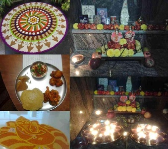 My Eco friendly Diwali with Tasty Food, Puja & Rangoli