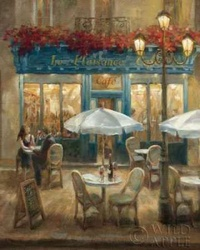Paris Cafe I Crop Poster