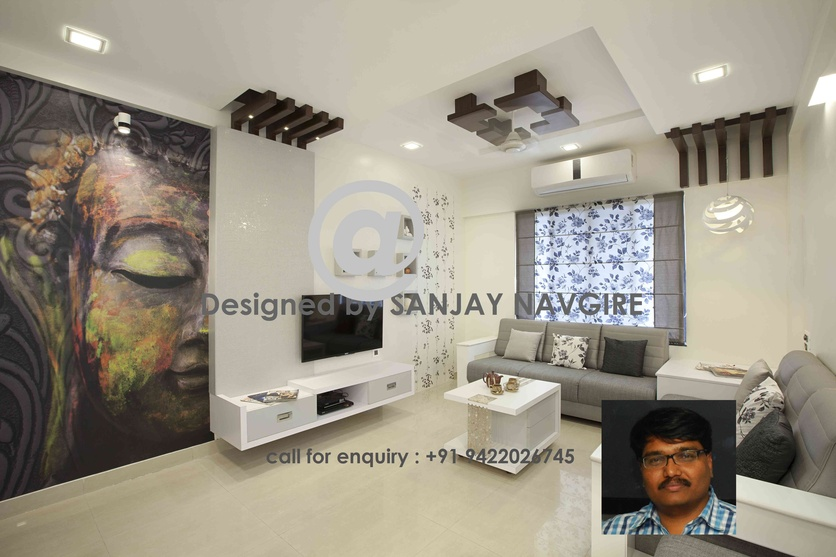 2 bhk flat by sanjay navgire interior designer in pune for 2 bhk flat decoration