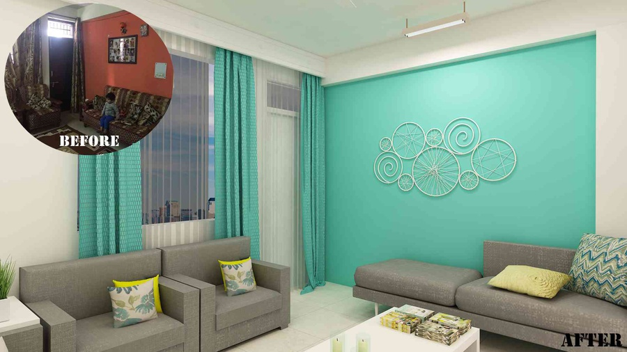 Small Budget Big Makeover Living Room By Nishant Sinsinwar