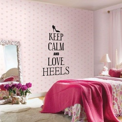 Keep Calm and Love Heels Wall Decal ( KC354 )