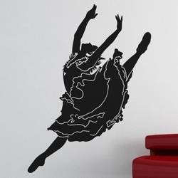 Ballet Girl Wall Decal ( KC097 )