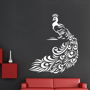 Pretty Peacock Wall Decal