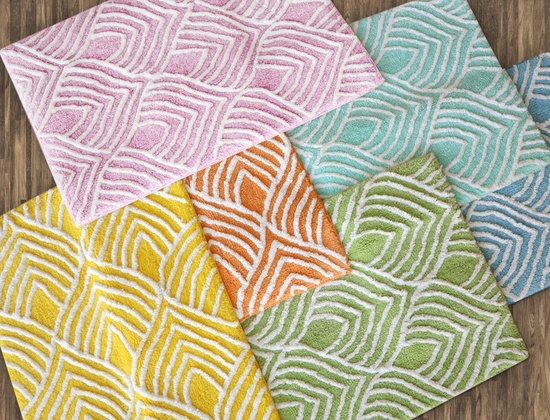 Mira Patterned Bath Mats