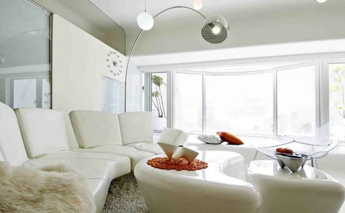 Plush White Living Room