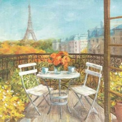 September in Paris Crop Poster