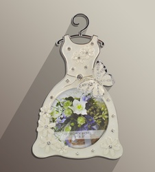 Wedding Dress Photo Frame