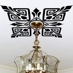 Scroll Ceiling Wall Decal ( KC075 )