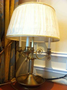 wait... is this a candelabra? no, a table lamp.! Well, both! :)