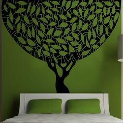 Round Tree Wall Decal ( KC110 )