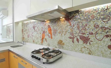 Modern Kitchen Tiles with Graphics