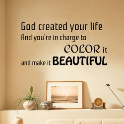 Colour Life Make it Beautiful Wall Decal ( KC373 )