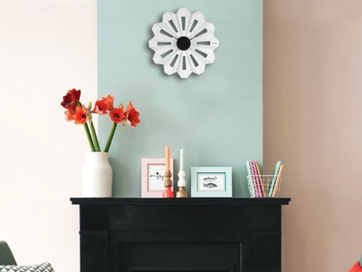 Karlsson Wall Clock Lotus Flower Plastic White, Black Hands