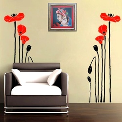 Precious Poppies Wall Decal ( KC051 )