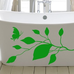 Butterfly and Leaf Wall Decal ( KC261 )