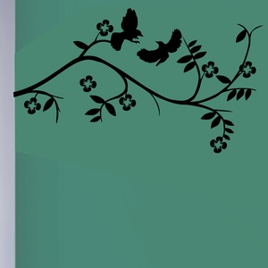 Birds And Flowering Branch Wall Decal ( KC048 )