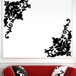 Corner Scrolls Wall Decal ( KC179 )