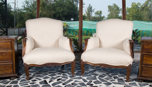 Colonial Finish Arm Chairs