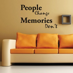 Memories Dont Change Wall Decal ( KC397 )