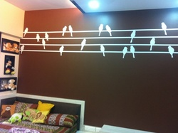 Birds in a Row Wall Decal ( KC021 )