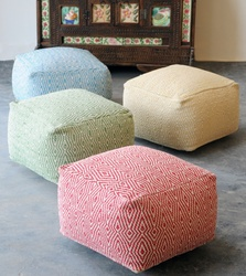 Okibo Recycled Luxury Cotton Poufs