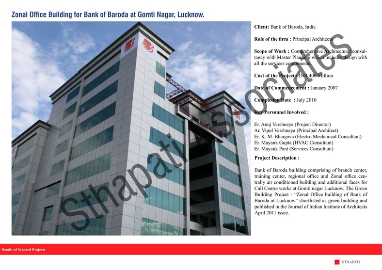 zonal office building for bank of baroda at gomti nagar lucknow by rh zingyhomes com