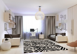 Black & White Hand-tufted Wool Rugs