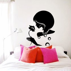 Lady With a Flower Wall Decal ( KC122 )