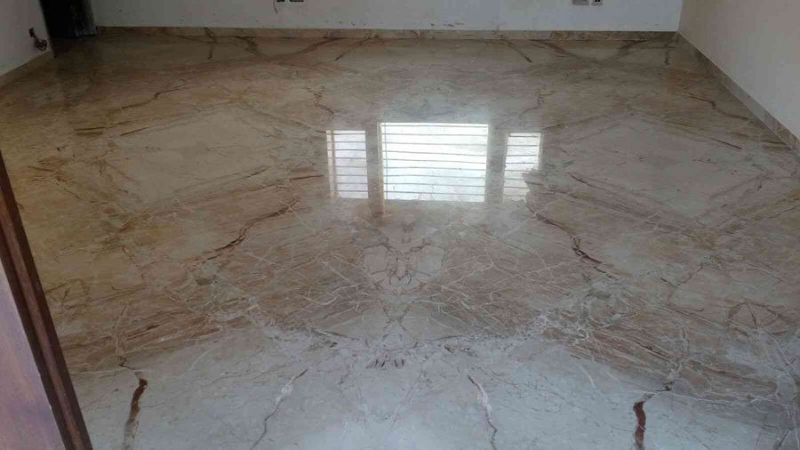 italian flooring with mirror polish