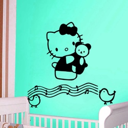 Hello Kitty Musical Notes Wall Decal ( KC196 )