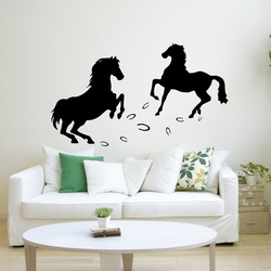 Two Horses Wall Decal ( KC288 )