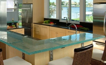 Glass Worktop for Kitchen, Image Source: gethousedecor.com