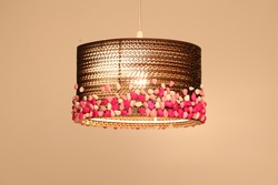 Sustainable Handmade Sylvn Studio Stony Barrel Pink Lamp