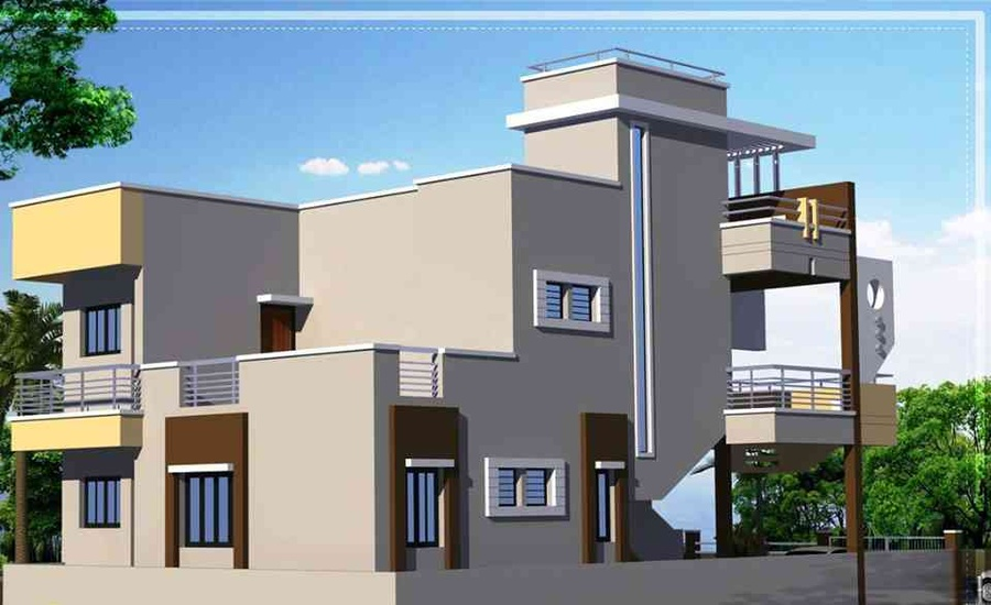 Office Front Elevation Design : Front elevation design by us rohit mathur interior