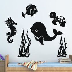 Aquatic Animals Wall Decal ( KC126 )